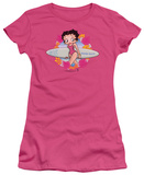 Juniors: Betty Boop-Surf T-shirts