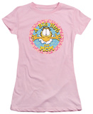 Juniors: Garfield-A Big Hug For Mom Shirt
