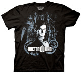 Dr. Who - Dr. With Character Collage T-shirts