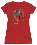 Juniors: Justice League America-Raise Your Fist T-shirts