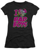 Juniors: DC-I Heart Bad Boys T-Shirt