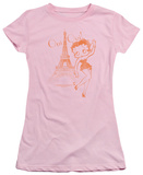 Juniors: Betty Boop-Oui Oui T-Shirt