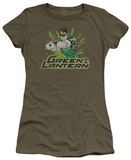 Juniors: Justice League America-Green Lantern Rough Distress T-Shirt