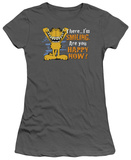Juniors: Garfield-Smiling T-Shirt