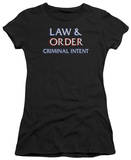 Juniors: Law & Order CI-Logo T-shirts