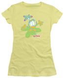 Juniors: Garfield-Butterfly T-Shirt