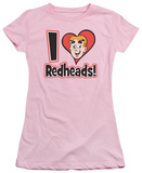 Juniors: Archie Comics-I Love Redheads T-shirts