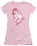 Juniors: Bettie Page-3 Color Bombshell T-Shirt