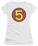 Juniors: Speed Racer-Mach 5 Door Sticker T-Shirt
