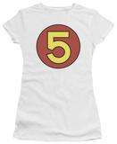 Juniors: Speed Racer-Mach 5 Door Sticker T-shirts