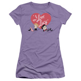 Juniors: I Love Lucy-Content T-Shirt