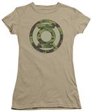 Juniors: Green Lantern-Camo Logo Shirts