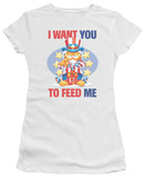 Juniors: Garfield-I Want You T-Shirt