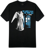 Dr. Who -  Angels Have Phone Box Weeping Angel Tshirt