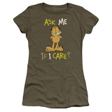 Juniors: Garfield-Ask Me If I Care T-Shirt