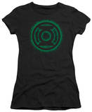 Juniors: Green Lantern-Green Flame Logo T-Shirt
