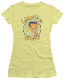 Juniors: Betty Boop-Life's A Beach T-Shirt