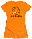Juniors: Garfield-Do I Look Like I'm Kidding T-shirts