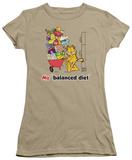 Juniors: Garfield-Balanced Diet Shirts
