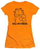 Juniors: Garfield-Pull My Finger T-shirts