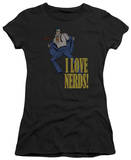 Juniors: DC-I Love Nerds T-Shirt