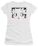 Juniors: Betty Boop-Close Up T-shirts