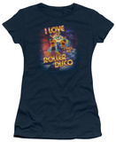 Juniors: Space Ace-I Love Roller Disco Shirts