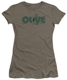 Juniors: Popeye-Olive T-Shirt