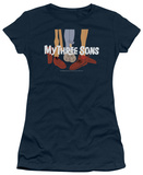 Juniors: My Three Sons-Shoes Logo T-shirts