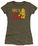 Juniors: Garfield-Leaving T-Shirt