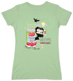 Juniors: Betty Boop-Vampire Tomato Juice Shirt