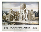 Fountains Abbey, LNER, c.1932 Prints