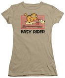 Juniors: Garfield-Vintage Easy Rider Shirt