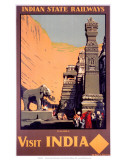 Indian State Railways: Visit India Prints