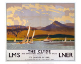 The Clyde, LMS/LNER, c.1923-1947 Art by Norman Wilkinson