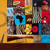 Mundo africano Lámina por Sophie Wozniak