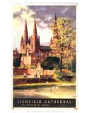 Lichfield Cathedral, BR, c.1957 Art