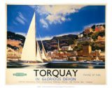 Torquay in Glorious Devon, British Railways, c.1950s Posters