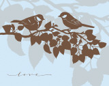 Chickadee Love Posters by Sharyn Sowell