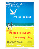British Railways, Western Region: It's No Secret Porthcawl Has Everything! Posters