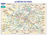 M&#233;tro De Paris Affiche par Ratp 