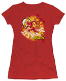 Juniors: Justice League America-Lightning Fast T-Shirt