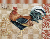 Bergerac Rooster Red II Prints by Paul Brent