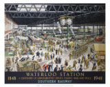 Waterloo Station, War, SR, c.1948 Kunstdrucke von Helen Mckie