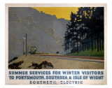 Summer Services for Winter Visitors, SR, c.1937 Prints by Charles Pears