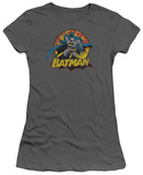 Juniors: Justice League America-Batman Rough Distress T-Shirt