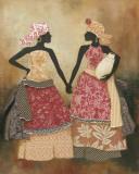 Village Women I Kunstdrucke von Carol Robinson