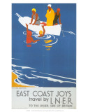 East Coast Joys No 4, Sea Bathing, LNER, c.1931 Prints