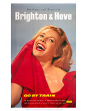 Brilliant and Beautiful Brighton and Hove, Go By Train, BR (SR), c.1961 Prints