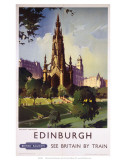 Edinburgh: The Scott Monument, BR, c.1950s Prints